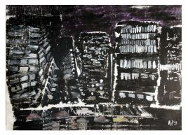 Berlino • 1998 • olio/pigmento • cm 198x263