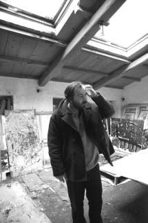 Alessandro nel suo atelier. Foto di Edy Mostarda
