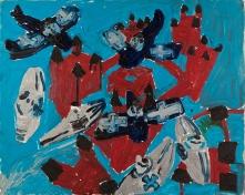 Aerei • 1999 • olio/acrilico/pigmento • cm 80x100