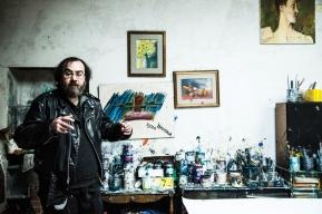 Alessandro nel suo atelier. Foto di Ginevra D'Archi