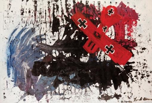 Barone rosso • 1993 • olio/acrilico/pigmento • cm 145x212