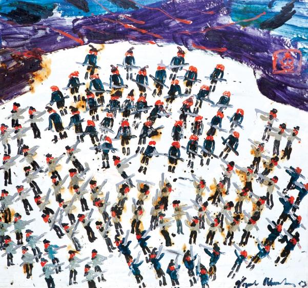 Battaglia austro-svedese anno 1800 • 2003 • olio – cm 150x159