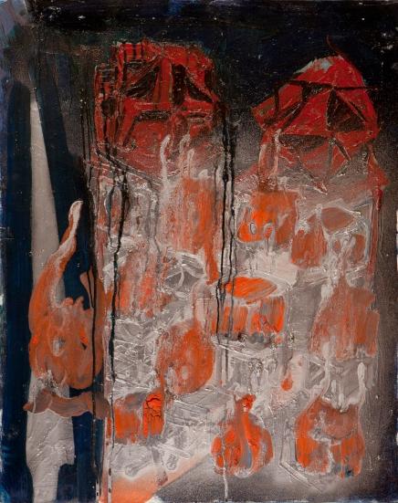 Cubi immaginari • 1999 • olio/acrilico/pigmento • cm 100x80
