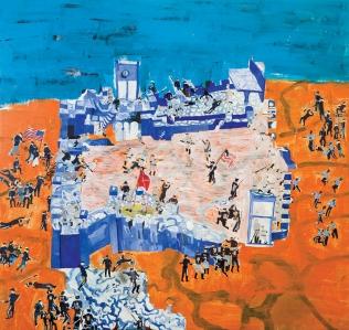 Guerra di secessione • 1996 • olio/acrilico/pigmento • cm 198x200