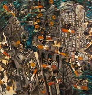 Invasion 2 • 2004 • olio/acrilico/pigmento • cm 150x144