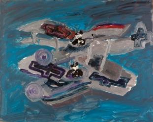 Macchine volanti • 1999 • olio/acrilico/pigmento • cm 80x100