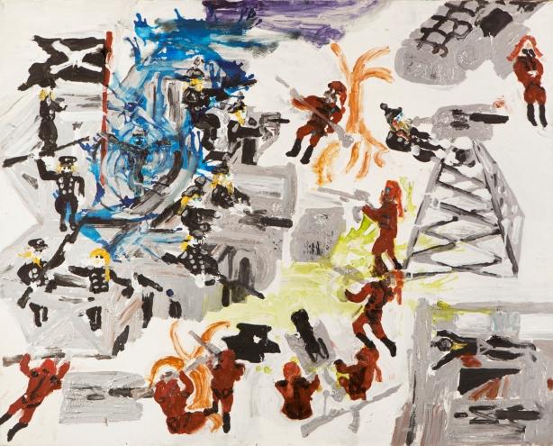 Pirati del futuro • 1999 • olio/acrilico/pigmento • cm 80x100