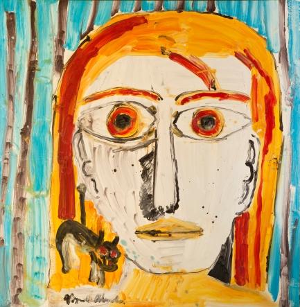 Ritratto a memoria • 2008 • olio • cm 154x150