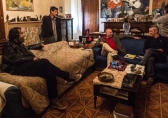 Da sinistra, Alessandro Vignali, Franco Profili, Enrico Mascelloni, Fabio Filabbi. Foto di Ginevra D'Archi