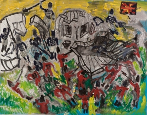 Soldati napoleonici • 1999 • olio/acrilico/pigmento • cm 80x100