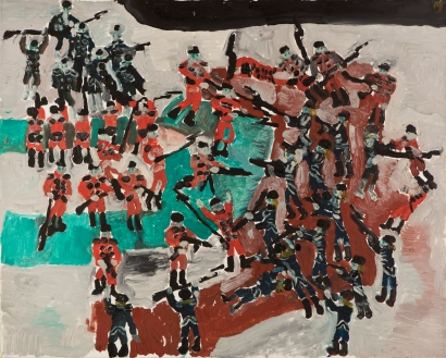 Strade • 1999 • olio/acrilico/pigmento • cm 80x100