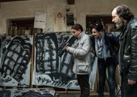 Alessandro in occasione dell'intervista per la mostra di Palazzo Primavera. Foto di Ginevra D'Archi