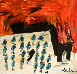 Tramonto • 2010 • olio • cm 150x150