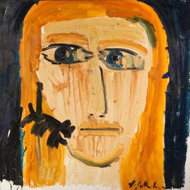 Volto • 2009 • olio • cm 156x155