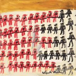 Guerra inglese blocco nordico - 2015 - Olio su tela - 100 x 100 cm