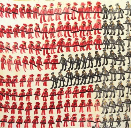 Guerra inglese blocco nordico - 2015 - Olio su tela - 153 x 156 cm
